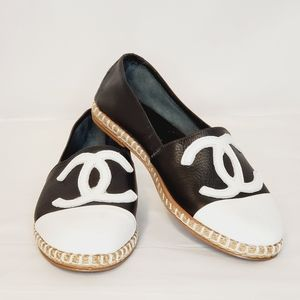 Women's Leather Espadrilles Loafers